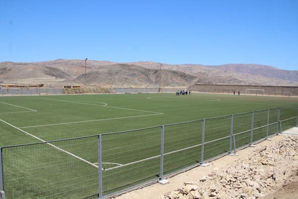Avanzan obras de estadio de fútbol de el Salado