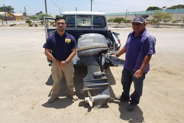 PDI recupera motor de lancha avaluada en mas de 2 millones de pesos
