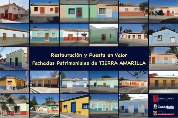 Minera Candelaria, Municipalidad y ProCultura entregaron a la comunidad obras del proyecto de restauración de fachadas en Tierra Amarilla