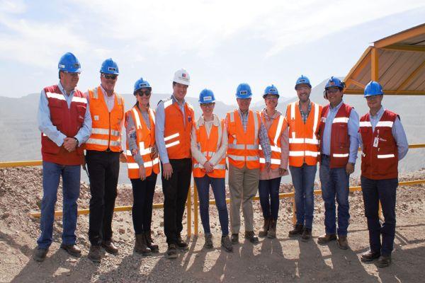 Ministra de Minería de Ecuador visitó operaciones de Candelaria