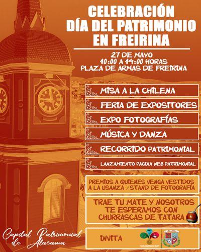 Freirina invita a sus actividades por el día nacional de patrimonio cultural