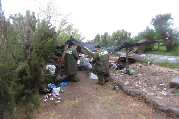 Carabineros visita y apoya personas que viven en situación de calle en Vallenar