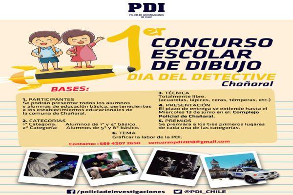 PDI realiza concurso de dibujo para estudiantes de Chañaral