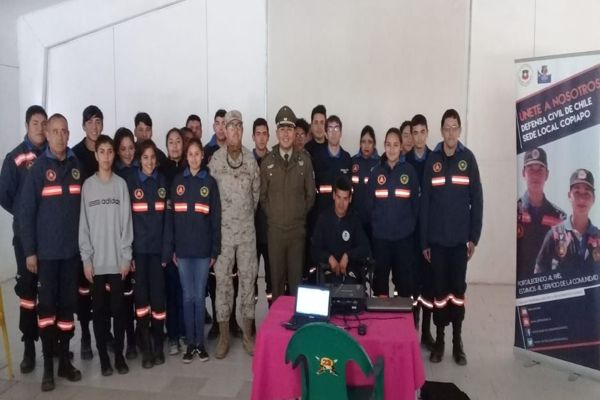 Carabineros realizo jornada preventiva a voluntarios de la defensa civil