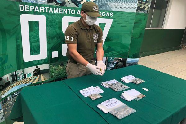 OS7 Atacama detuvo a sujeto que transportaba 87 ovoides con clorhidrato de cocaina