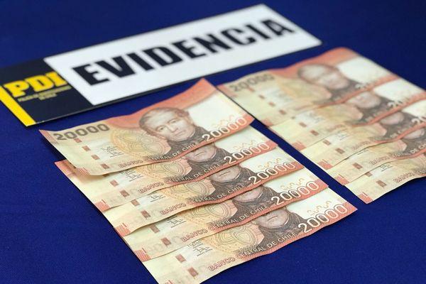 PDI detiene a sujeto por falsificación de billetes