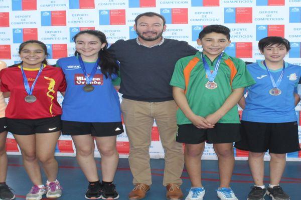 Atacama ya tiene equipo de tenis de mesa para las finales nacionales de los juegos deportivos escolares