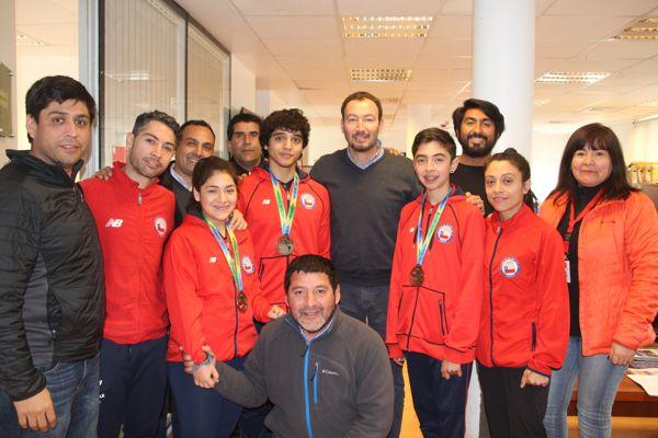 Seremi del deporte reconoció a medallistas panamericano de karate