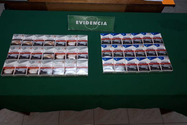 Carabineros incauto 200 cajetillas de cigarrillos de contrabando