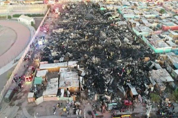 Incendio en campamento de Calama dejó 400 damnificados