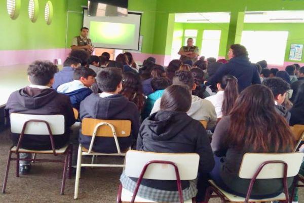 Cerca de 70 alumnos de establecimientos educacionales de Caldera participaron de jornada preventiva