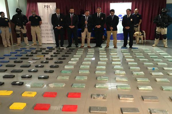 PDI desarticula organización criminal e incauta 225 kilos de clorhidrato de cocaína