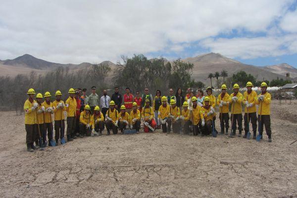 CONAF y Ejército realizan ejercicio conjunto de combate a incendio forestal