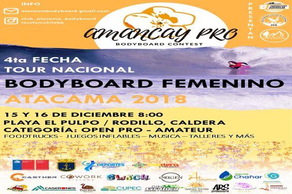 Cowork Atacama apoya primer campeonato nacional de bodyboard femenino en Atacama