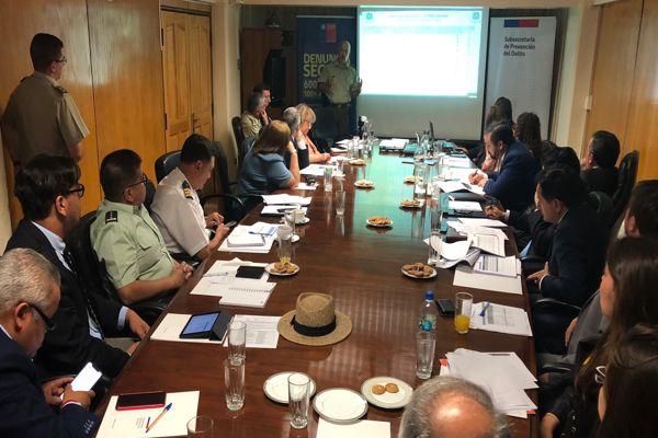 General Jorge Tobar expuso ante el consejo regional de seguridad publica