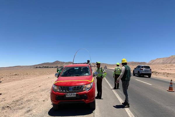 Carabineros y comité paritario Codelco -Salvador entregan recomendaciones sobre seguridad vial