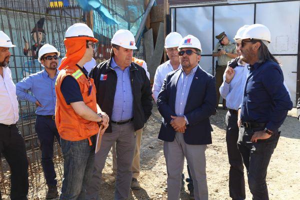 Trabajos de reposición de la Escuela Mireya Zuleta de Huasco ya tienen un 56% de avance.
