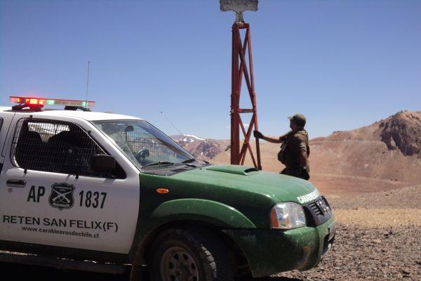 Carabineros realiza soberanía en San Felix