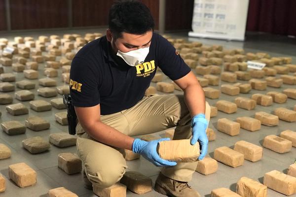Importante hallazgo de drogas de la PDI supera los 6 mil millones de pesos