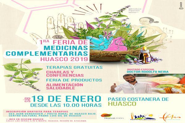 "Realizan ""I Feria de Medicinas Complementarias"" en Huasco"