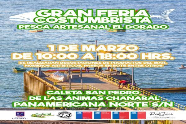 """Fiesta gastronómica """"Del Dorado"""" en Chañaral y """"Festival del Ostión"""" en Caldera cierran verano en el Borde Costero de Atacama."""