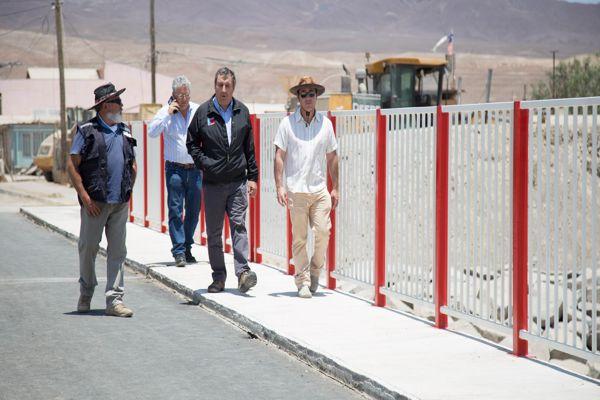 Seremi MOP visita obras de mitigación en la Comuna de Diego de Almagro