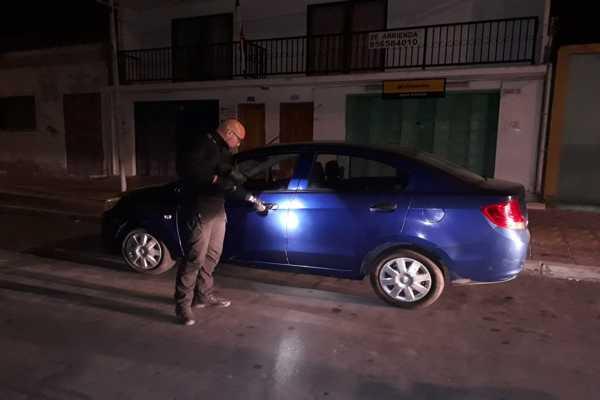 Unidad de seguridad publica de Caldera recupera vehículo robado