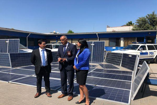 PDI recupera 30 paneles solares avaluada en mas de $13 millones en Caldera