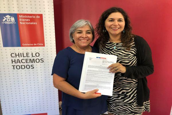 Seremi Carla Guaita entrego concesion gratuita a centro de madres renacer de Copiapo