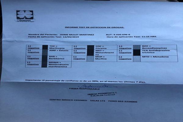 Diputado Mulet (FREVS) y autoridades locales se realizan test de drogas en Copiapó