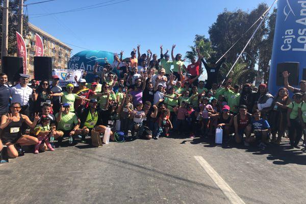 Mas de 300 participantes de todas las edades participaron de la corrida familiar de carabineros