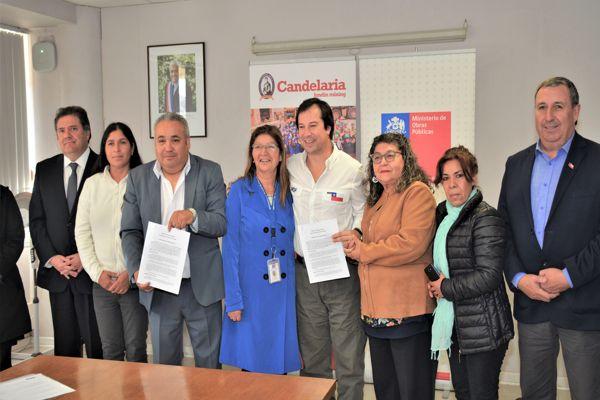 Firman convenio de colaboración para la limpieza y perfilamiento de un sector del río Copiapó en Tierra Amarilla
