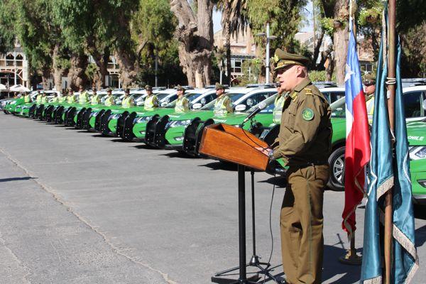 Carabineros cuenta con 38 vehículos policiales para brindar seguridad en Atacama