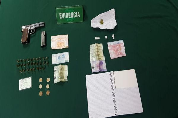 Investigación del OS7 Atacama termino con dos hermanos detenidos y la incautacion de droga y armamento