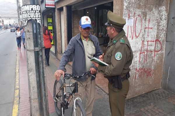 En Copiapo carabineros previene robo de bicicletas