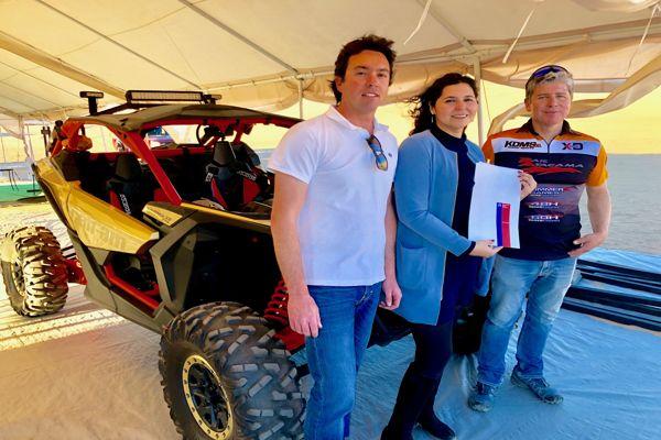 Seremi de bienes Atacama fiscalizo campamento base del Raid Atacama y entrego permiso de ocupación en terreno