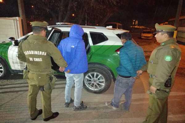 Carabineros de Tierra Amarilla detuvo a tres personas por el delito de robo con intimidación