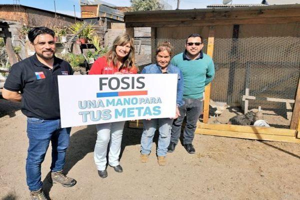 Familias de Huasco realizan autoproducción de alimentos con apoyo del Fosis