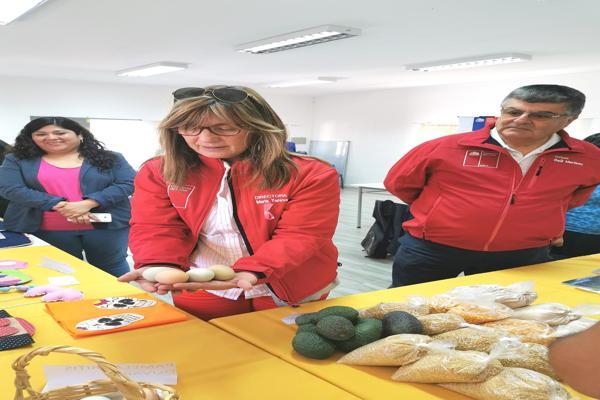 Emprendedores exponen sus productos en entretenido taller del FOSIS