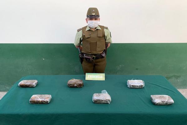 Pasajeros de bus plusschile trasladaba mas de 6 kilos de pasta base a la ciudad de Coquimbo