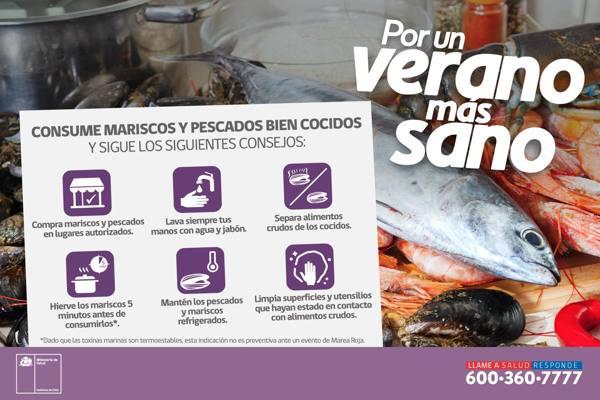 Autoridad Sanitaria realiza llamado a consumir en forma segura pescados y mariscos tras brote alimentario en Caldera