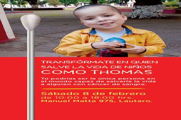 Niño de 7 años que espera su segundo trasplante de células madre sanguíneas invita a ser donante