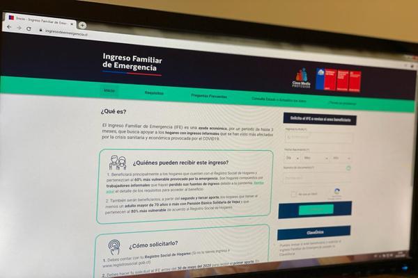 Sitio web permitirá verificar a las personas si son beneficiarias del Ingreso Familiar de Emergencia