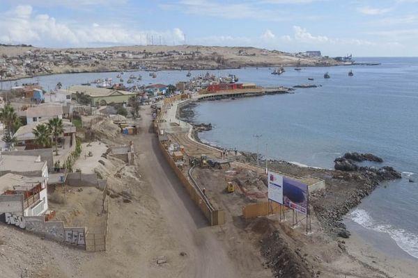 Obras de Mejoramiento del Borde Costero de Playa Brava y del Jefe en Caldera alcanzan 50% de avance