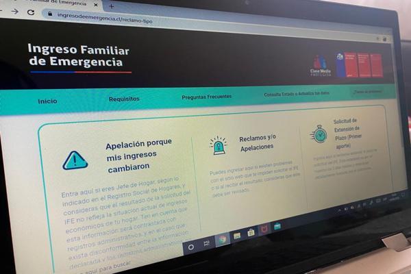 Postulantes que fueron rechazados podrán presentar apelaciones para el Ingreso Familiar de Emergencia
