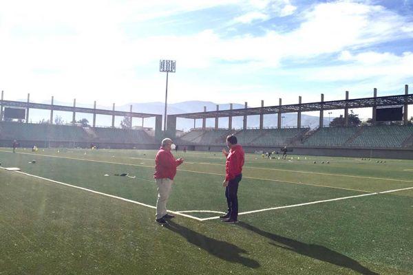 Autoridades del deporte verifican medidas sanitarias en retorno a los entrenamientos de Deportes Copiapó.