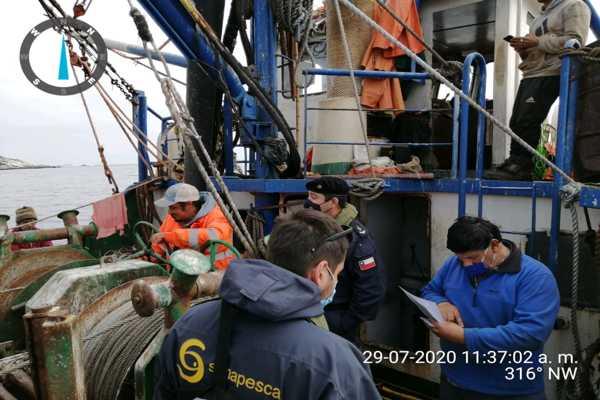 Autoridad Marítima y Sernapesca fiscalizaron embarcaciones cerqueras en la bahía de Chañaral