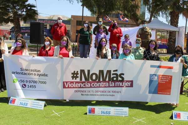La Seremi de la Mujer y la Equidad de Género Jessica Gómez Poblete realiza lanzamiento campaña #NoMás