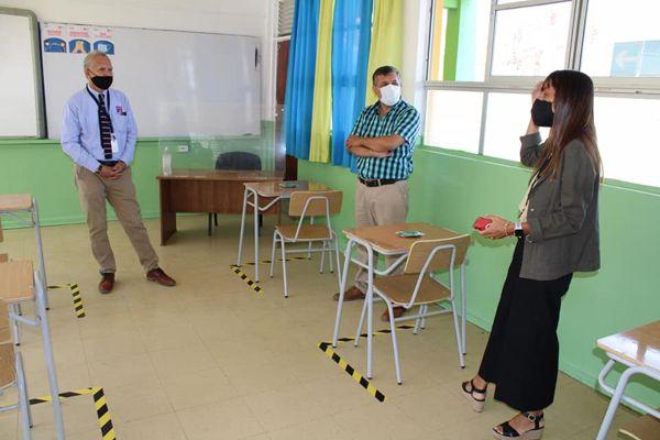 CALDERA: Autoridades de la Educación Pública supervisan la implementación de protocolos sanitarios para iniciar el año escolar