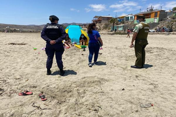 Servicios preventivos permanentes en balnearios de Atacama este fin de semana